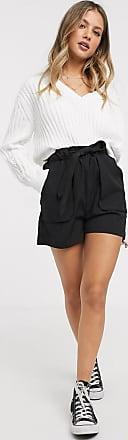 Pimkie tie waist shorts in black
