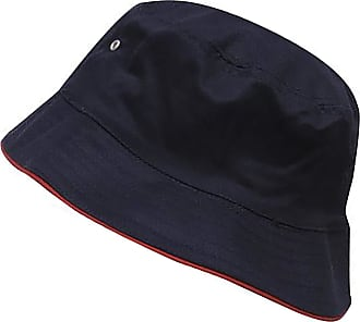 4sold Men Women Adults Bucket Hat Summer Fishing Fisher Beach Festival Sun Cap (Cotton Navy Red)