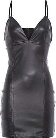 John John Vestido Cuts Leather John John - Preto