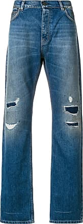 Kent & Curwen distressed straight-fit jeans - Azul
