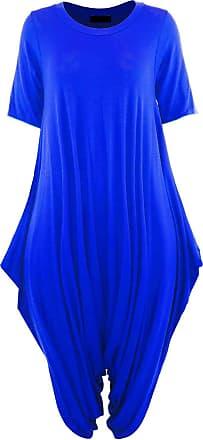 Momo & Ayat Fashions Ladies Short Sleeve Baggy Lagenlook Hareem Jumpsuit Romper UK Size 8-26 (Royal Blue, S/M (UK 8-10))