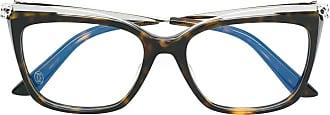 Cartier Armação de óculos gatinho - Marrom
