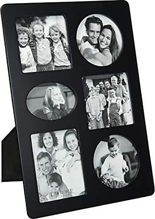Lawrence Frames Black Wood Multi 6 Opening Picture Frame