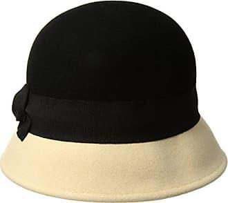 c8deba3a48c98 San Diego Hat Company Womens 2 Inch Brim Wool Color Block Cloche Hat with  Grossgrain Bow