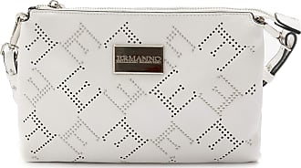 Ermanno Scervino Shoulder Bag Grace White with Punched Logo - 975 Grace White - Size