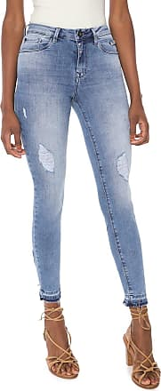 Lez a Lez Calça Jeans Lez a Lez Skinny Cropped Bali Azul