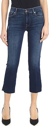 7 For All Mankind Cropped boot jeans in blue