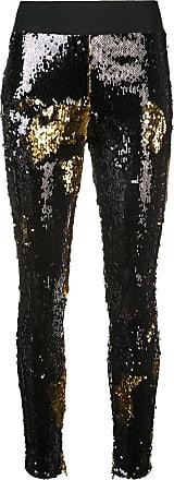 FAUSTO PUGLISI Calça legging com paetês - Preto