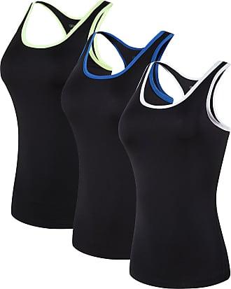 Jeansian Womens 3 Packs Sport Slim Quick Dry Tank Top Vests Sleeveless T-Shirt SWT237 PackB XL