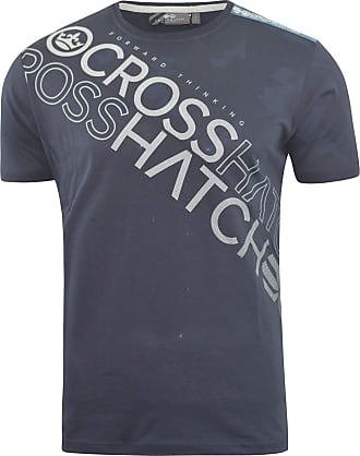 Crosshatch Mens T-Shirt Graphic Crew Neck Tee Top Concept Gradients(XXL,Navy)