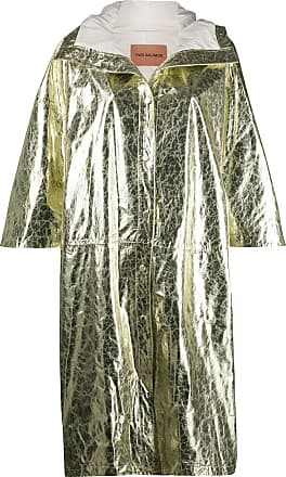 Yves Salomon metallic-effect coat - GOLD