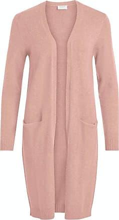 Vila Womens Viril L/s Long Knit Cardigan-noos Sweater, Pale Mauve, Detail: Melange, M
