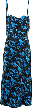 Marine Serre Kleid mit Blumen-Print - Schwarz