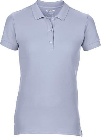 Gildan Gildan Womens/Ladies Premium Cotton Sport Double Pique Polo Shirt (XL) (Light Blue)