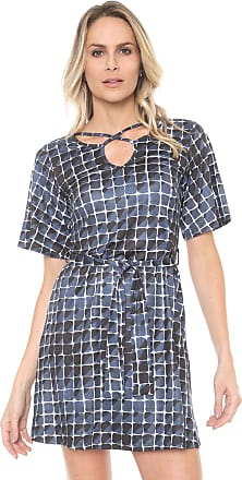 4b673c3a2 Dimy Vestido dimy Curto Estampado Azul-marinho/Preto