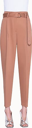 Akris Cropped Chino Pants in Satin Stretch
