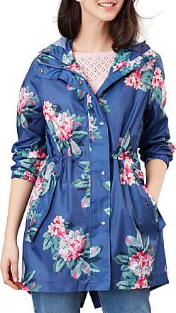 Joules Golightly Womens Waterproof Jacket UK 18 Reg Blue Floral