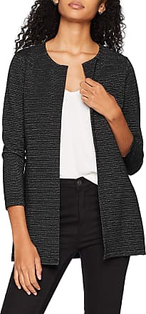 Only Womens Onlleco 7/8 Cardigan JRS, Black (Black Detail:Silver Glitter), 14 (Size: Large)