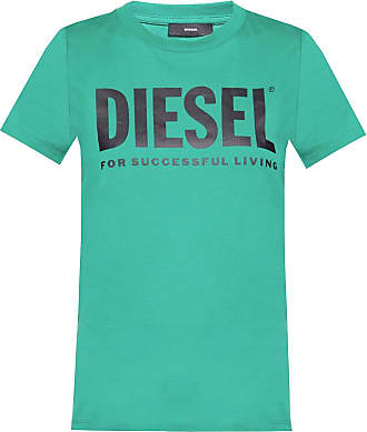 Diesel Logo T-shirt Womens Green