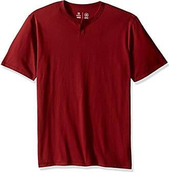 Brixton Mens Basic Short Sleeve Henley, Brick, Large