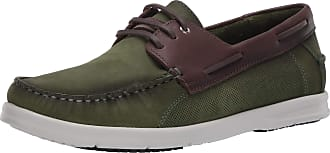 Driver Club USA Mens Made in Brazil Leather Boat Shoe, Emerald Green Nubuck/Contrast Binding, 6.5 UK