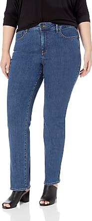 NYDJ Womens Plus Size Marilyn Straight Leg Jean, Batik Blue, 24W 32