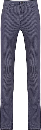 Dudalina Calça Jeans Listrado - Azul