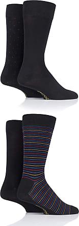SockShop SOCKSHOP Mens Gift Boxed Bamboo Colour Burst Socks Pack of 4 Black 7-11