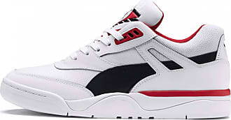 aa78569ae0e131 Puma Palace Guard Herren Sneaker (weiß schwarz)