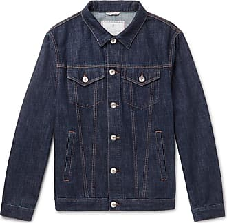Brunello Cucinelli Slim-fit Denim Jacket - Blue