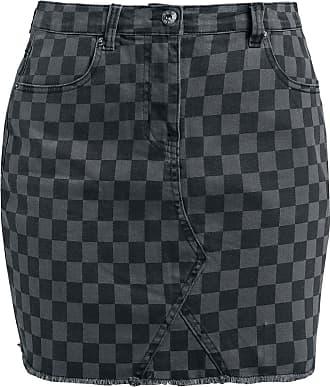 b4e842c55eca86 Forplay Checkerboard Skirt - Korte rok - zwart-grijs