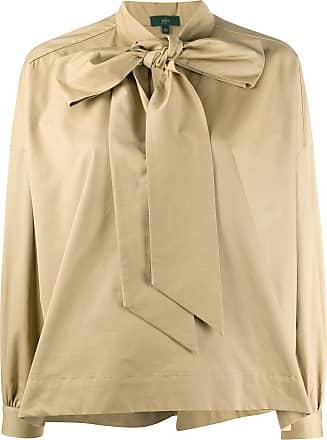 JEJIA pussy-bow flared shirt - Neutro