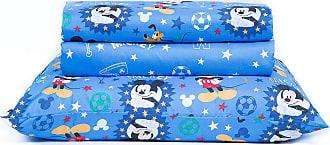 Disney Jogo de Lençol Infantil Microfibra 150 Fios Toque Aveludado Disney Mickey Happy