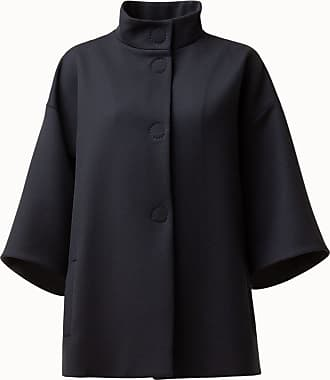 Akris Oversized Car Coat with Stand Up Collar