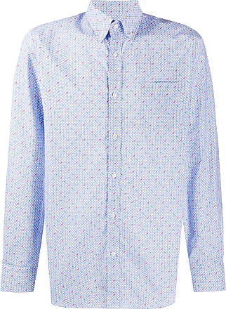 Paul & Shark Camisa slim com padronagem - Azul