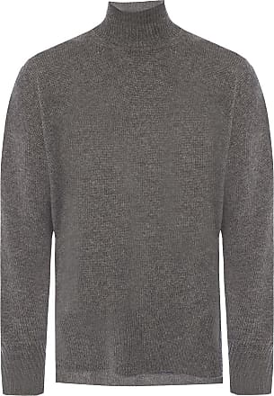 Jil Sander Cashmere Sweater With A Band Collar Womens Grey