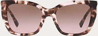 Valentino Valentino Occhiali Occhiale Da Sole Squadrato In Acetato Con Stud Donna Rosa Chiaro OneSize