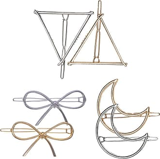 Zhhlaixing Geometry Hair Clip Metal Hairpins Hollow Hair Clips Hair Pin for Women Girls Hair Accessories,6 Pieces/10 Pieces,Gold and Silver Zhhlaixing