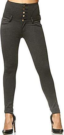 Koucla Capri Jeans kurze Hose Caprihose Used look mit Spitze