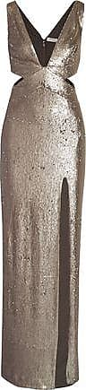 Halston Heritage Halston Heritage Woman Cutout Sequined Stretch-jersey Gown Silver Size 8