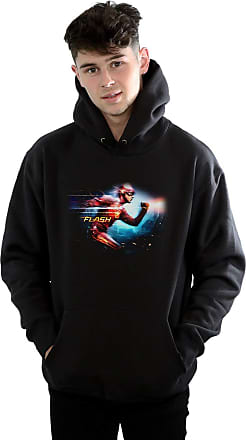 Absolute Cult DC Comics Mens The Flash Sparks Hoodie Black Large