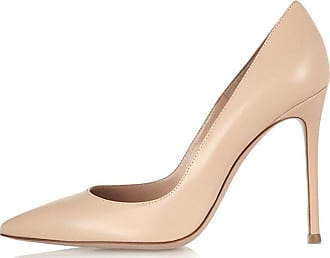EDEFS Womens Ladies Stylish Closed Toe Stiletto High Heels Beige Size EU40