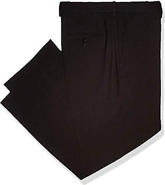 Haggar Mens Premium Comfort Classic Fit Flat Front Expandable Waist Pant, Charcoal, 34Wx34L