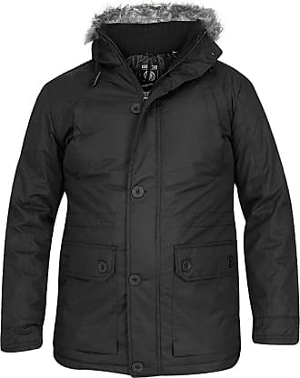 Mens Soulstar Hooded Quilted Padded Lightweight Jacket Puffa Coat Size