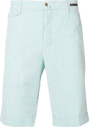 PT01 striped shorts - Green