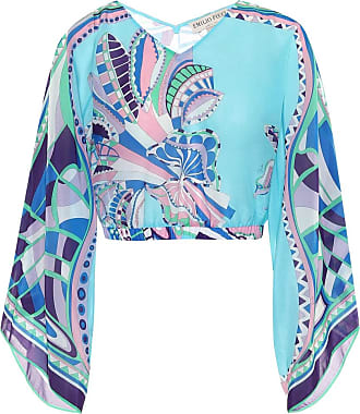 Emilio Pucci Printed cotton-blend top