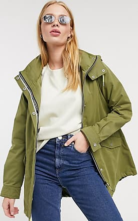 Only awesome parka coat in khaki-Green