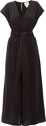 Anaak Anneka Wide-leg Cotton-gauze Jumpsuit - Womens - Black