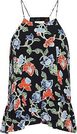 25960cfea9c2c0 Joie Joie Woman Pleated Floral-print Silk Top Black Size XS