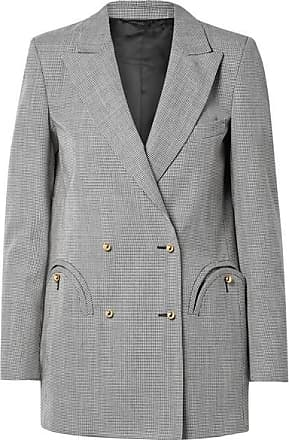 Blazé Milano Kentra Everyday Double-breasted Houndstooth Wool Blazer - Black